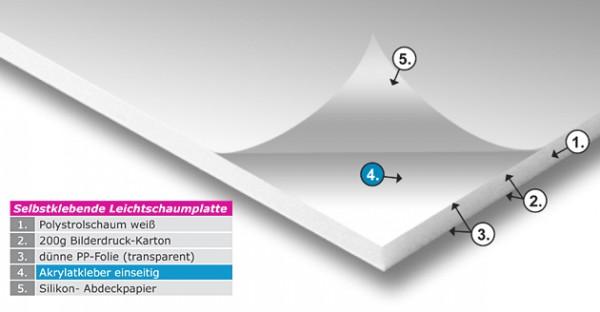 Selbstklebende Leichtschaumplatte 5 mm, 10 mm - MAXX-Board